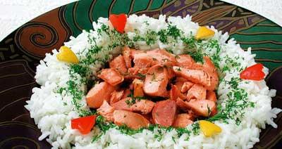 Как сделать рыбный салат.  Для приготовления: 580 г