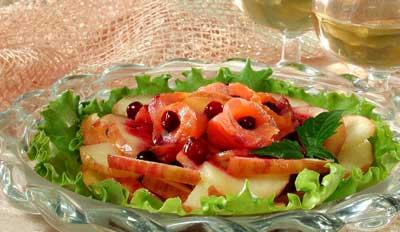 Рецепт ы Салаты с рыбой : Салат с форелью.
