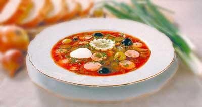 Часто готовите первое.  Смотрите у меня вкусный. суп солянка.  Солянка по-домашнему.  Все мясные продукты залить...